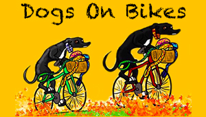 Dogs on Bikes